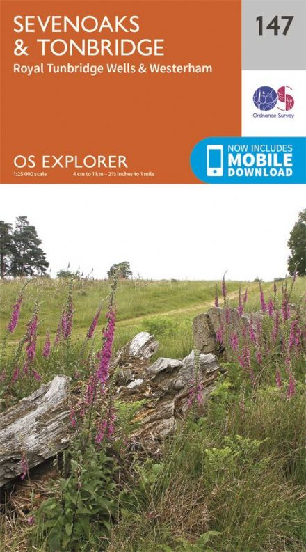OS Explorer 147 - Sevenoaks & Tonbridge, Royal Tunbridge Wells & Westerham